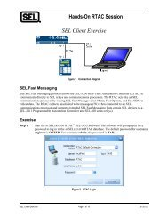 Hands-On RTAC Session SEL Client Exercise