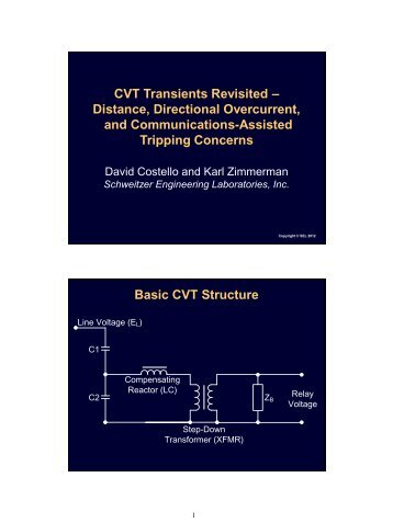 and Communications-Assisted Tripping Concerns Basic CVT Structure
