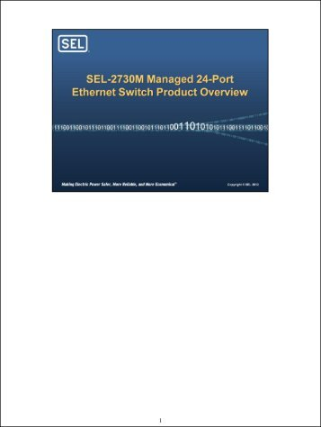Ethernet switch designed specifically for the utility and industrial markets