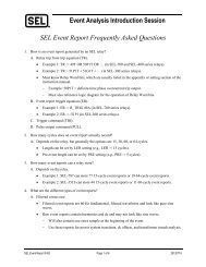 Event Analysis Introduction Session SEL Event Report Frequently Asked Questions