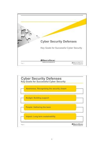 Cyber Security Defenses