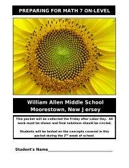 William Allen Middle School Moorestown New Jersey