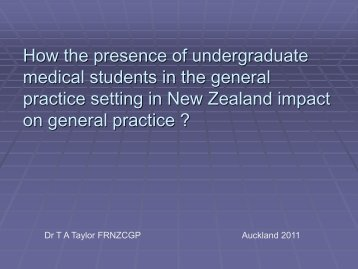practice setting in New Zealand impact on general practice ?