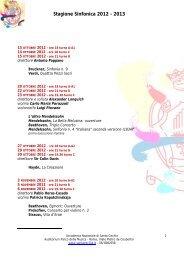 Stagione Sinfonica 2012 - 2013 - Accademia Nazionale di Santa ...