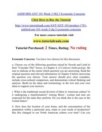ant 101 week 3 assignment Find answers on: ant 101 week 3 assignment more than 1000 tutors online.
