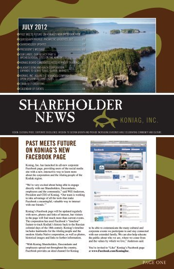 SHAREHOLDER NEWS