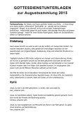 Gottesdienst-Unterlagen - Page 2
