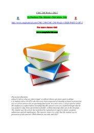 CMC 240 Week 1 DQ 2.pdf