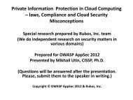Private Information Protection In Cloud Computing Laws