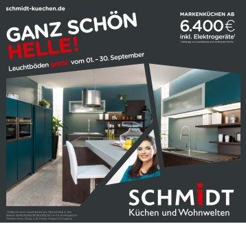 SCHMIDT Küchen Pfaffenhofen - Küchenaktionen im Septmber 2015