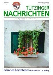 Download Heft 07 / Juli 2010 - Tutzinger Nachrichten
