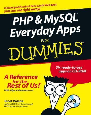 PHP & MySQL Everyday Apps DUMmIES‰