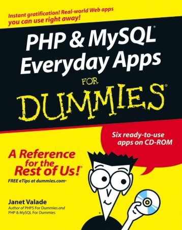 PHP & MySQL Everyday Apps DUMmIES‰