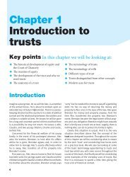Chapter 1 Introduction to trusts Key points - Pearson