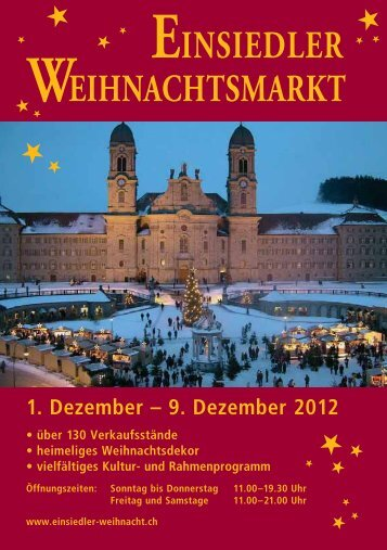 EINSIEDLER WEIHNACHTSMARKT - Weihnachtsmarkt Einsiedeln