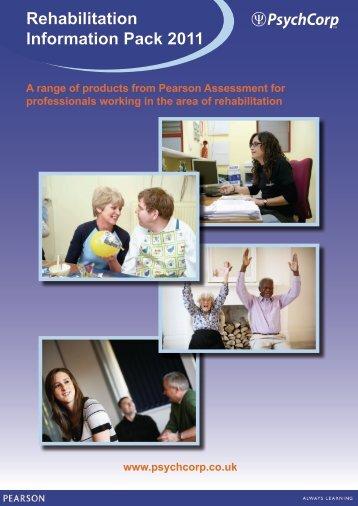Rehabilitation Information Pack 2011