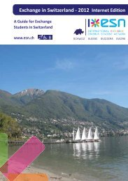A Guide for Exchange Students in Switzerland - Berner ...