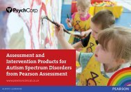 Autism Spectrum Disorders Brochure - Pearson Assessment