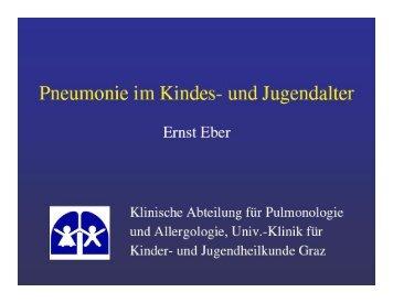 Pneumonie im Kindes- und Jugendalter - Kinder