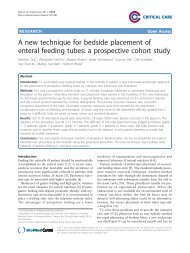 A new technique for bedside placement of enteral feeding tubes: a ...