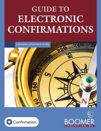 ELECTRONIC CONFIRMATIONS