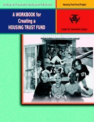 A WORKBOOK for Creating a HOUSING TRUST FUND