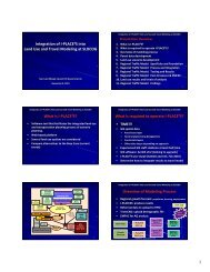 Integration of I‐PLACE3S into Land Use and Travel ... - Toolkit