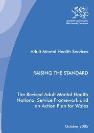RAISING THE STANDARD The Revised Adult ... - Health in Wales