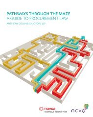 PathwAYS THrough the maze A guide to procurement law