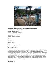 Rancho Mirage City Hall Site Renovation