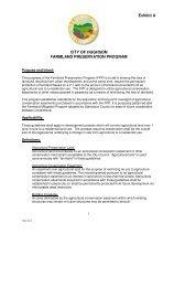 Exhibit A CITY OF HUGHSON FARMLAND PRESERVATION PROGRAM
