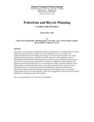 Pedestrian and Bicycle Planning