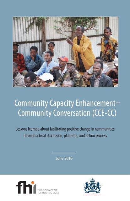 Community Capacity Enhancement Community Fhi 360