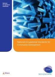 National Occupational Standards for Community Development