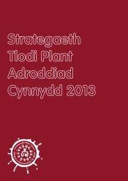 Strategaeth Tlodi Plant Adroddiad Cynnydd 2013 1
