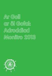 Ar Goll ar ôl Gofal Adroddiad Monitro 2013 1