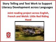 Story Telling and Text Work to Support Literacy Development across Languages