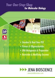Standard PCR – Product Selection Guide - Jena Bioscience