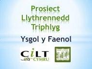 Prosiect Llythrennedd Triphlyg Ysgol y Faenol