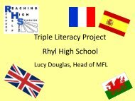 Triple Literacy Project Rhyl High School