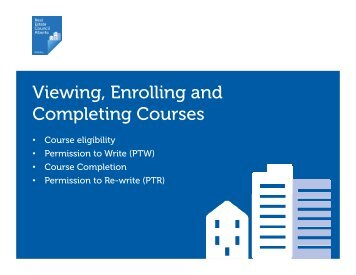 Viewing Enrolling and Completing Courses