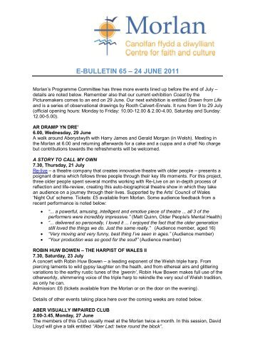 E-BULLETIN 65 – 24 JUNE 2011