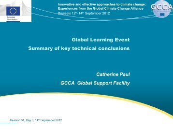 Long-term institutional and capacity strengthening - Global Climate ...