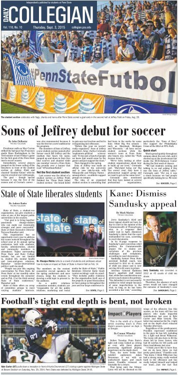 Sons of Jeffrey debut for soccer