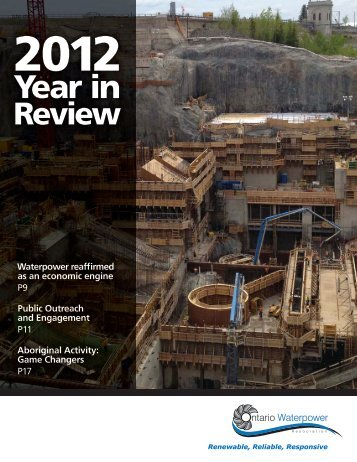 2012 Year in Review - Ontario Waterpower Association