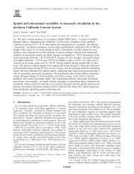 Spatial and interannual variability in mesoscale circulation in the ...