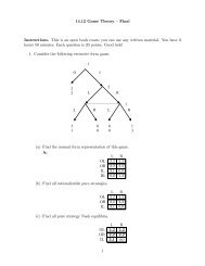 14.12 Game Theory — Final Instructions. This is an ... - DSpace@MIT