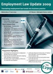 Employment Law Update 2009 - Symposium Events