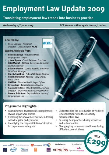 Employment Law Update 2009 - Symposium Events