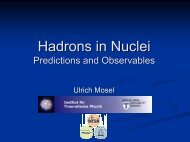 Hadrons in Nuclei - Predictions and Observables - Jefferson Lab